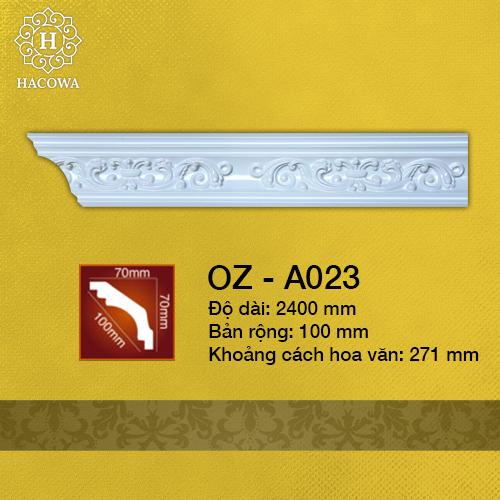 A023 – Phào Hoa Văn PU (2400x100mm)