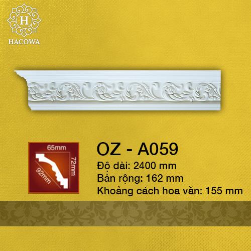 A059 – Phào Hoa Văn PU (2400x162mm)