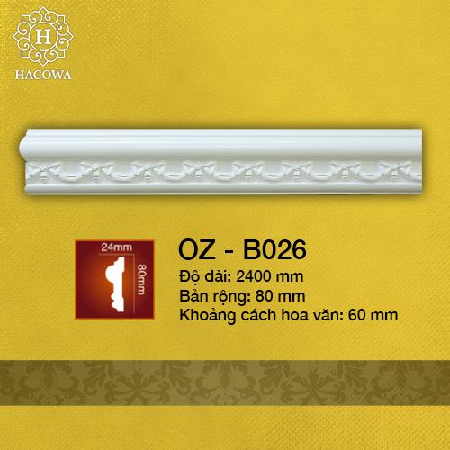 B026 – Chỉ Tường Hoa Văn 80mm