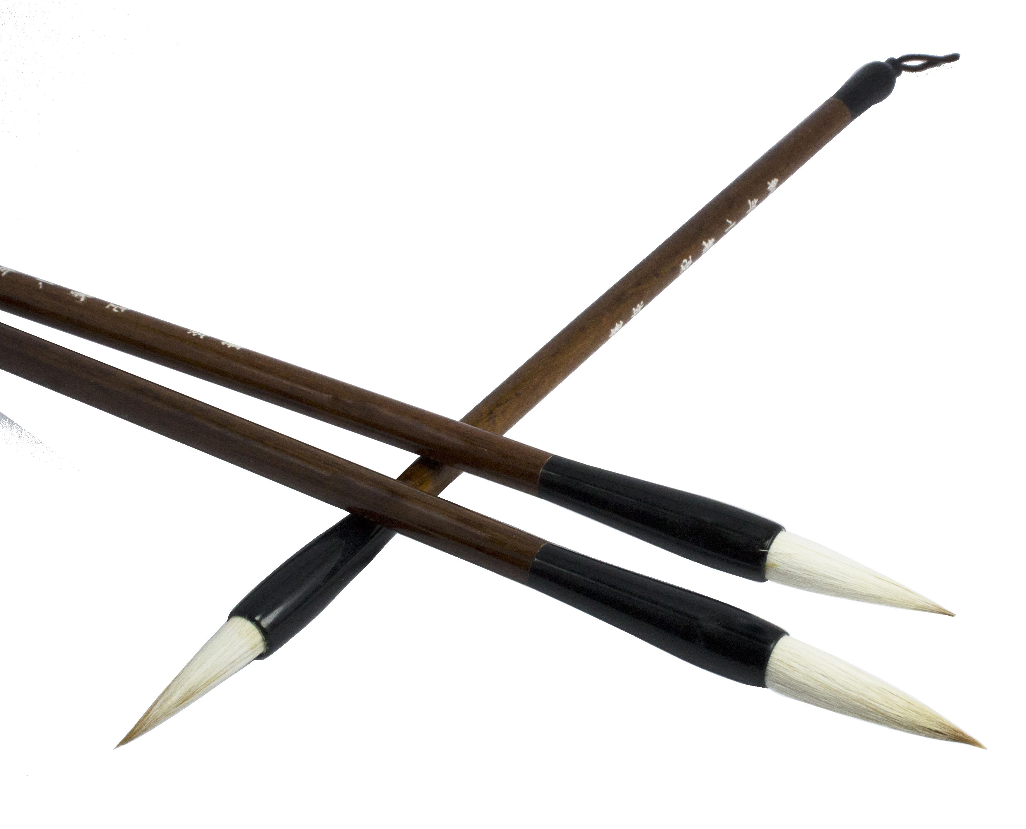 Bút lông thư pháp (cán nâu)
