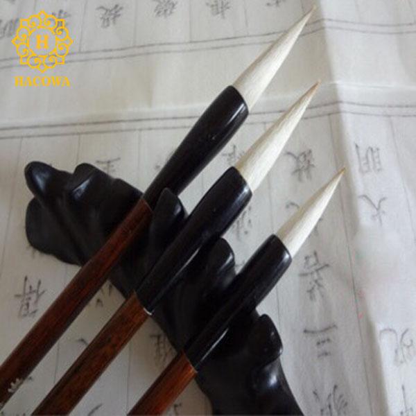 Bút lông thư pháp (bộ 3 chiếc cán nâu)