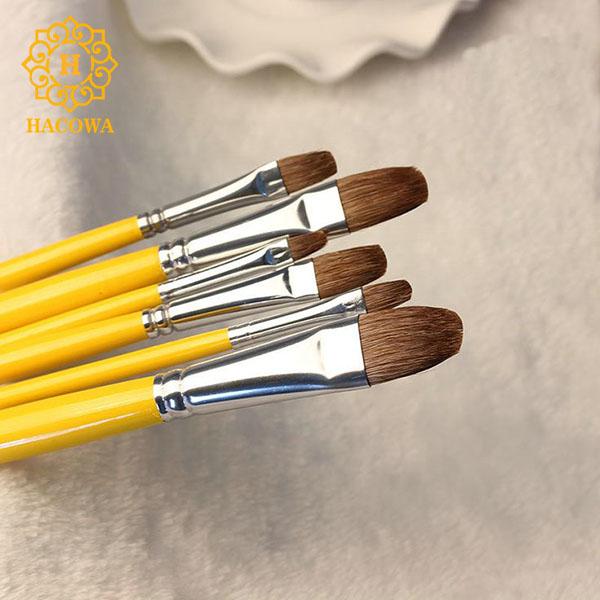 Bút lông cán vàng cao cấp (bộ 6 chiếc)