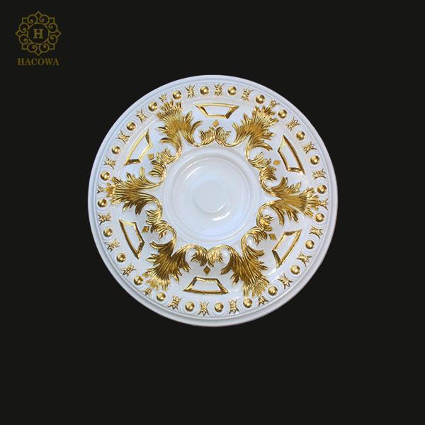 Hoa đèn nhựa PU dát vàng F011